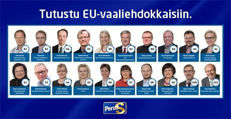 Eurovaaliehdokkaat Perussuomalaiset