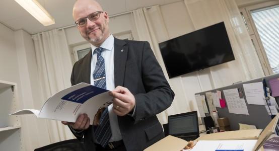21.1.2014 Helsinki, Vaalipäällikkö Pekka M. Sinisalo. kuva Matti Matikainen